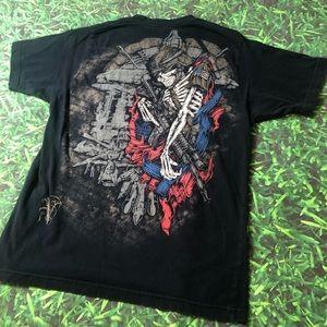 Virtus American Soldier Army T-Shirt Skull Veteran